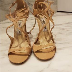 Jimmy choo nude strap heels